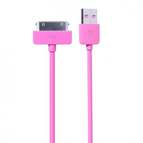Remax Light Speed 30 Pin Apple Cable for iPhone 4/4s - Merah Muda
