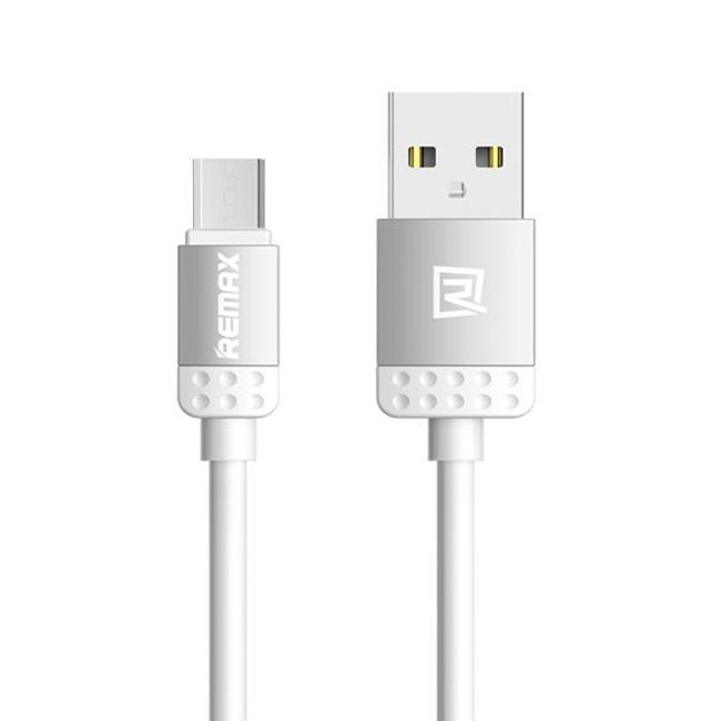 Remax Lovely USB Micro Charger High Speed Data Sync Cable - Abu-abu