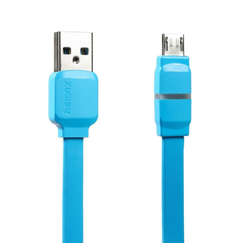 Remax Micro USB 2.0 Kabel Data and Charge Breathe Series Indicator LED Cable - Biru