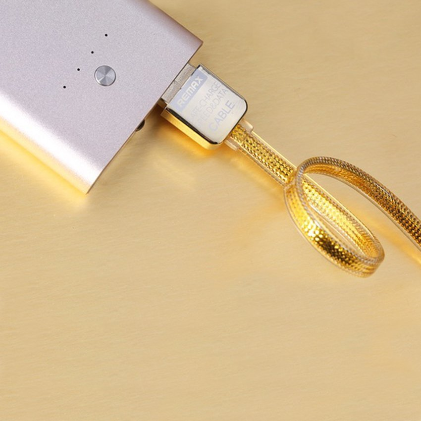 Remax Special Edition Gold Cable For Apple - Lighting - Gold