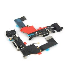 Replacement Charger Port Dock Connector Flex Cable USB Port Charging Port For IPhone 5S (Black) - INTL