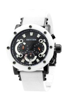 Rhythm I1203.02 - Jam Tangan Pria - Rubber - White Black (Free Size)