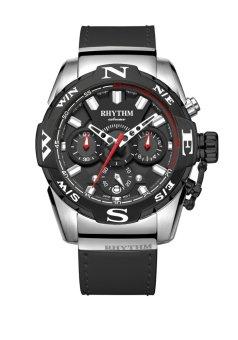 Rhythm S1414.02 - Jam Tangan Pria - Leather - Black Silver