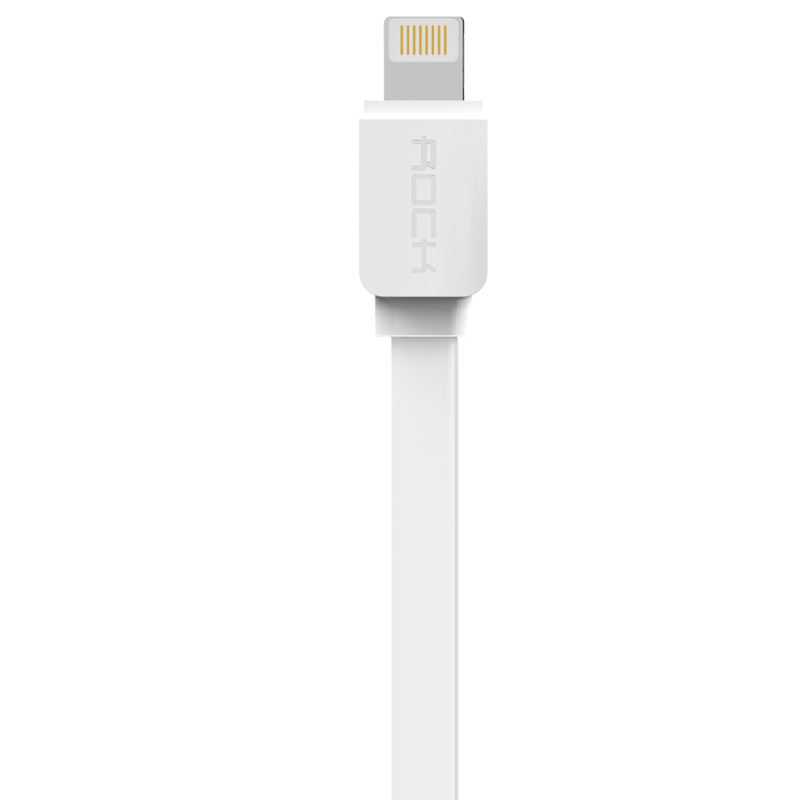 Rock 1m Lightning quick charging usb cable sync data line for iPhone 5/5s/6/6plus / iPad device (White) (Intl)