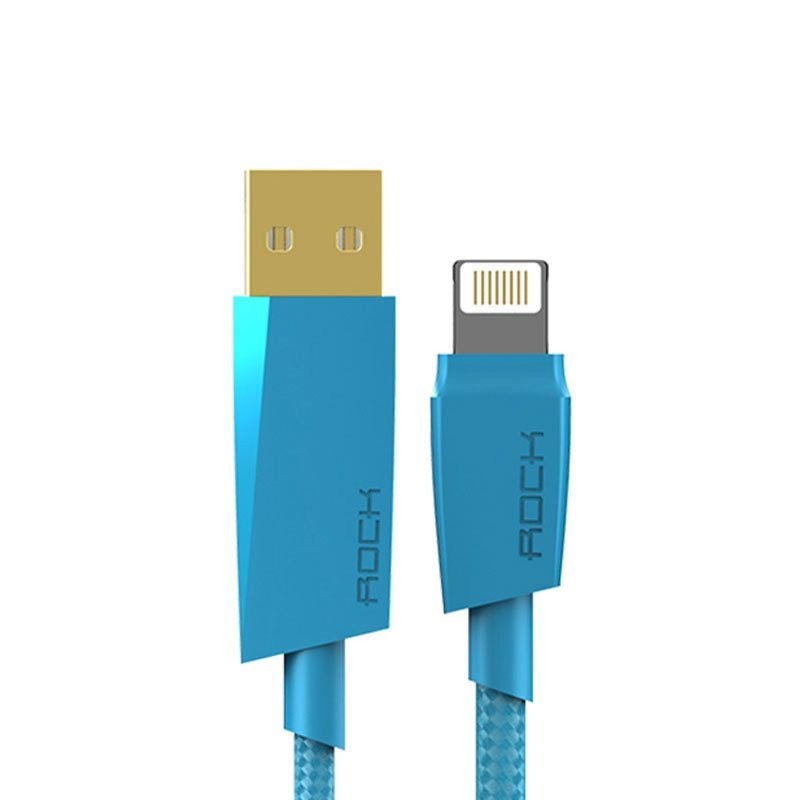 ROCK Charge&Sync MFI Lightning Cable - Blue