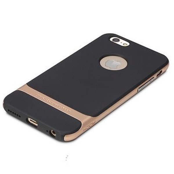 Rock Hybrid Shockproof Hard Bumper Case Cover for iPhone 5/5s (Gold)
