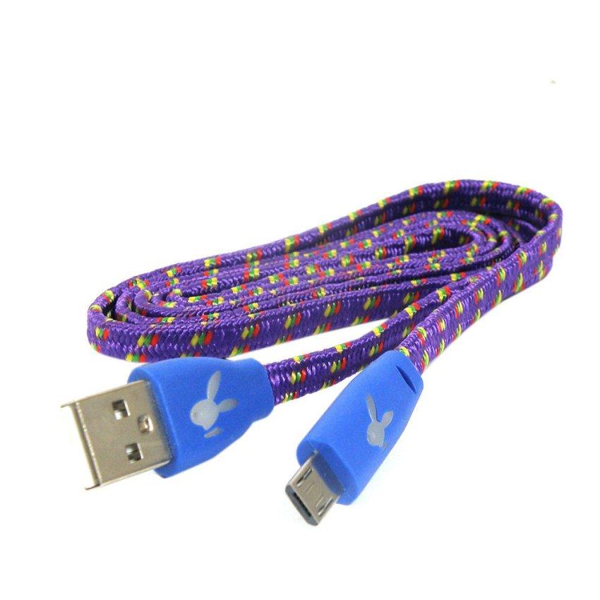 Rotamart Kabel Micro USB 1 meter - Ungu Kuning