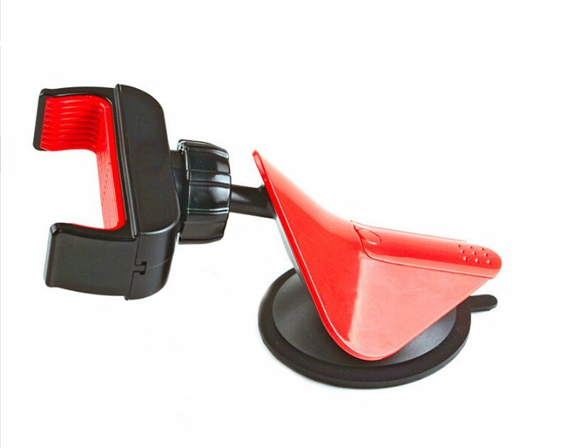 Rotating Car Mount Dashboard Cradle Cell Mobile Phone Holder Stand For IPhone 6 Plus For Samsung For HTC (Red) (Intl)