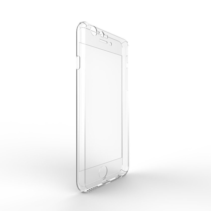 Roybens Full Body Protect Hard Slim Case Cover with Tempered Glass for iPhone 6 Plus Clear (Intl)