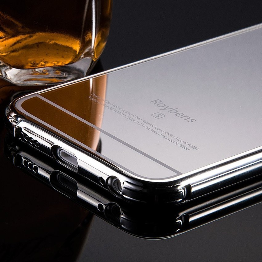 Roybens Luxury Air Aluminum Ultra Thin 2 in 1 Detachable Mirror Metal Frame Bumper Hard Back Case cover for Apple iPhone 6s Plus Silver (Intl)