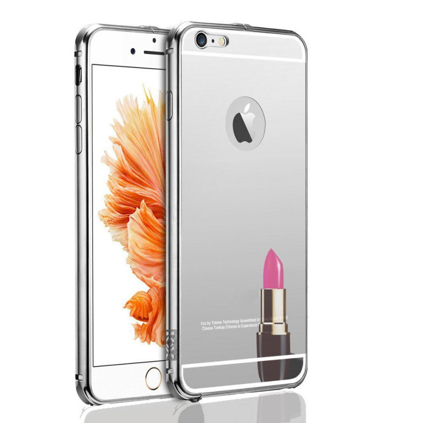 Roybens Luxury Air Aluminum Ultra Thin 2 in 1 Detachable Mirror Metal Frame Bumper Hard Back Case cover for Apple iPhone 6s Silver (Intl)