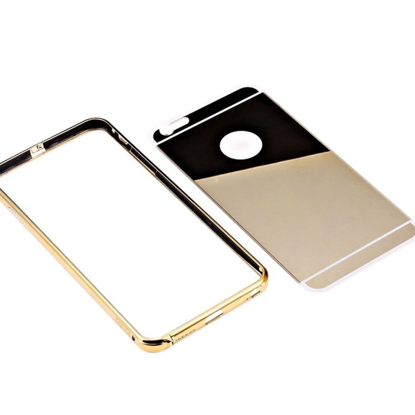 Roybens Luxury Aluminum Ultra-thin Mirror Metal Case Cover for iPhone 6 Gold (Intl)