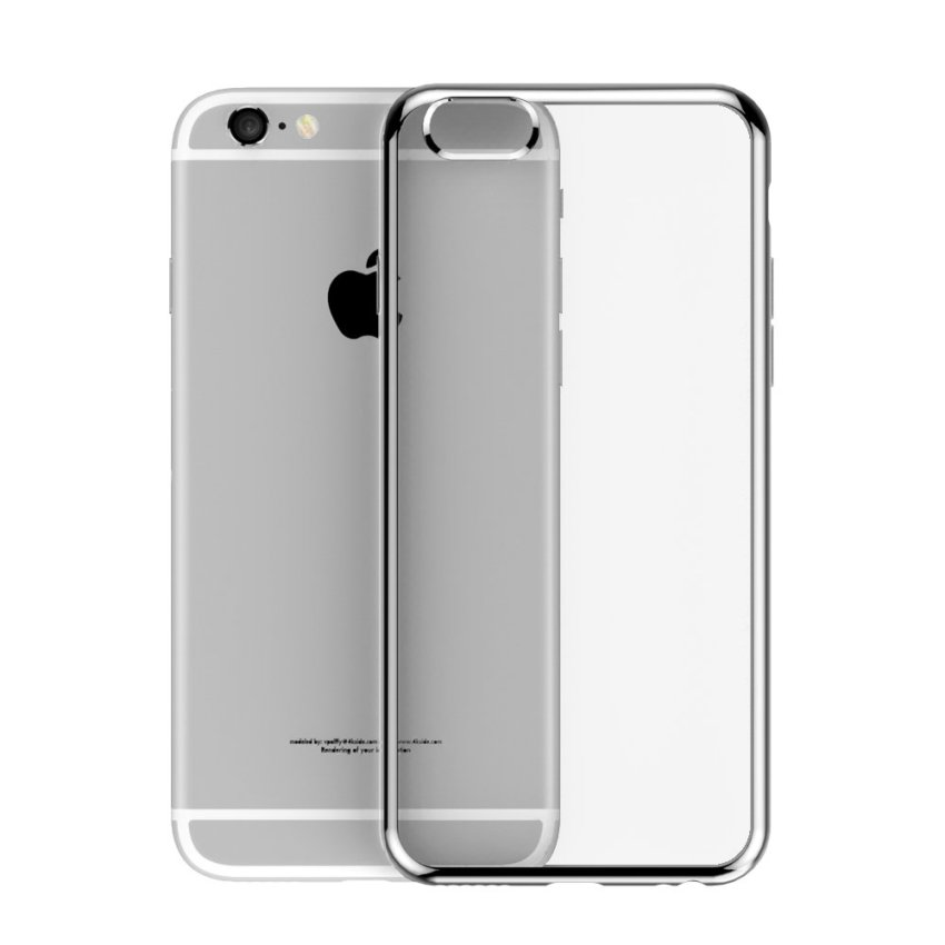 Roybens Ultra-thin Shockproof TPU Metal Soft Case for Apple iPhone 6 6S Silver (Intl)