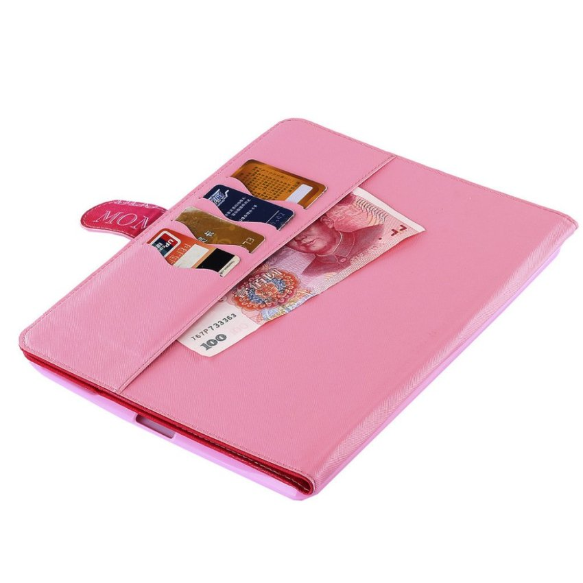 RUILEAN Case for Apple iPad 2 / iPad 3 / iPad 4 Flip Leather Wallet Style Kickstand Cover with Pattern