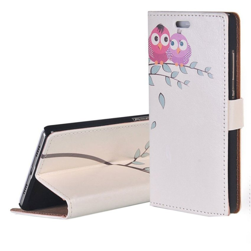 RUILEAN Elegant Pattern Flip Leather Wallet Card Pouch Stand Case Cover for Nokia Lumia 730 -K06