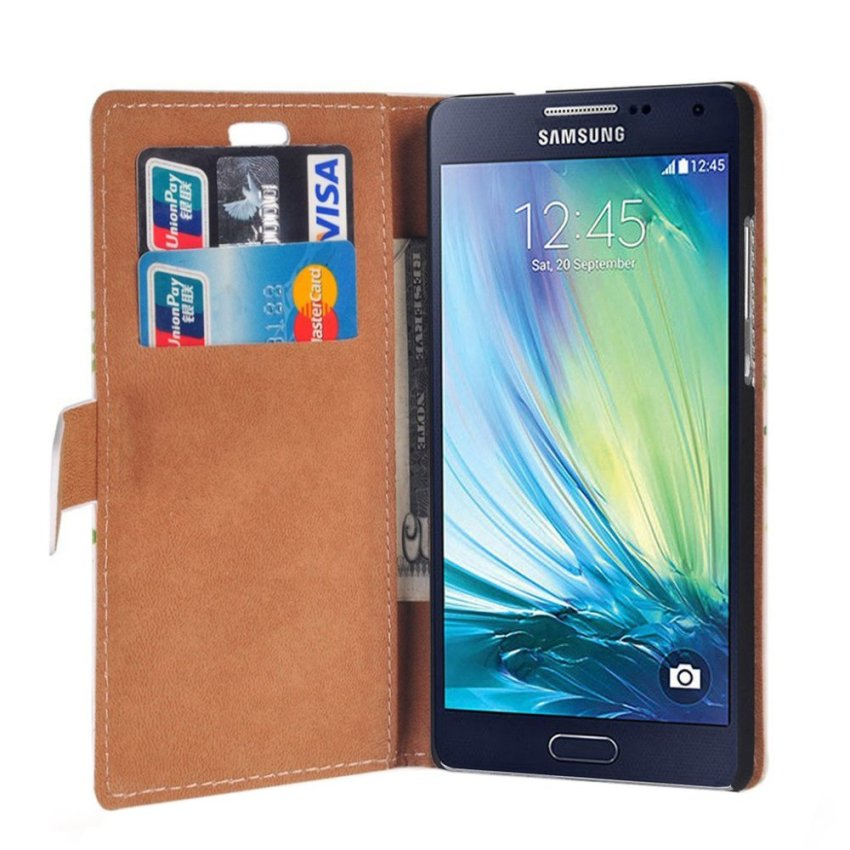 RUILEAN Elegant Pattern Flip Leather Wallet Card Pouch Stand Case Cover for Samsung Galaxy J5 -K10