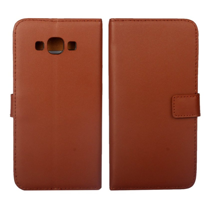 RUILEAN Leather Case for Samsung Galaxy A8 Premium Pu Leather Wallet Card Pouch Flip cover with Kickstand Function Brown