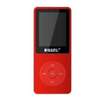 RUIZU X0.8GB LCD Screen Sport MP3 Player With FM Radio (Red)
