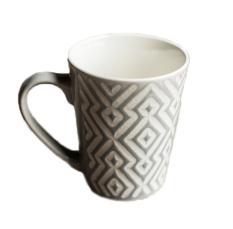 Rural Hand Painting Ceramic Mug Coffee Cup, Grey - Intl