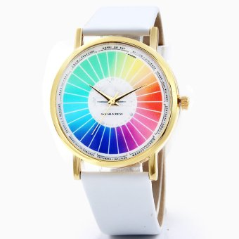 S & F Fashion Casual Ladies Watches Personality Color Wheel