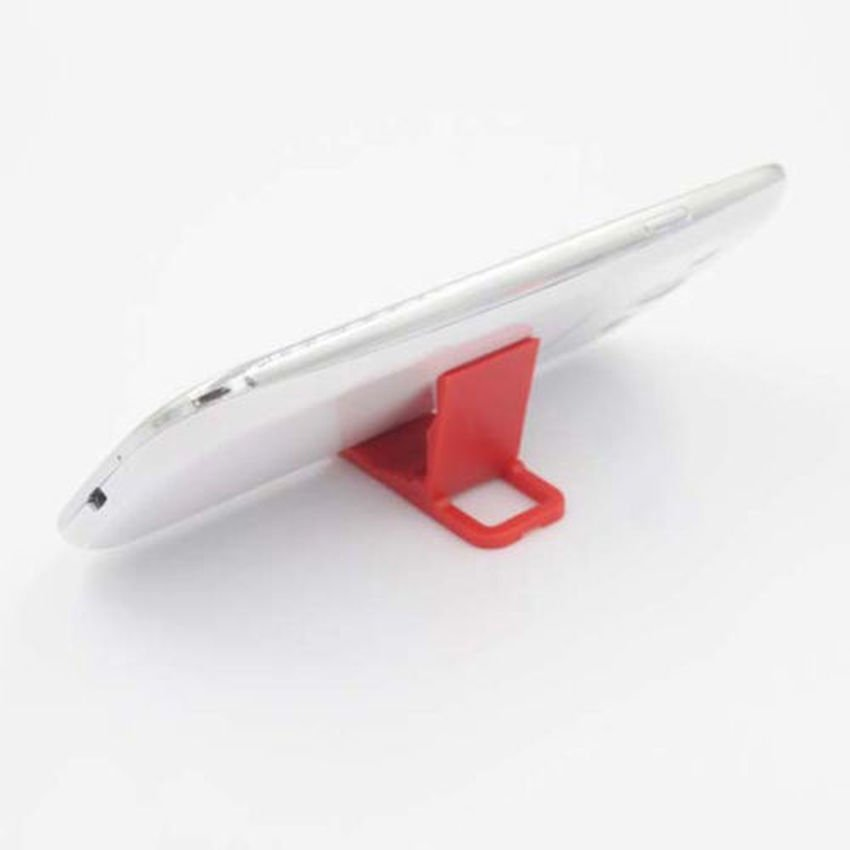 S & F Universal Fold-able Mini Cell Phone Stand Holder for iPhone Galaxy HTC Huawei (Red) (Intl)