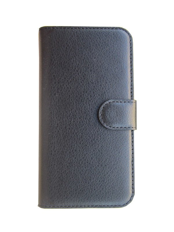 S-Ch Samsung Galaxy S6 Edge - Leather Flip Case - Hitam