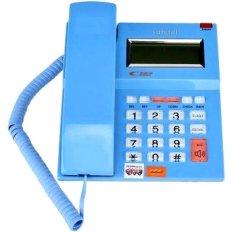 Sahitel Telepon Kabel dengan LCD Single Line S52 - Biru