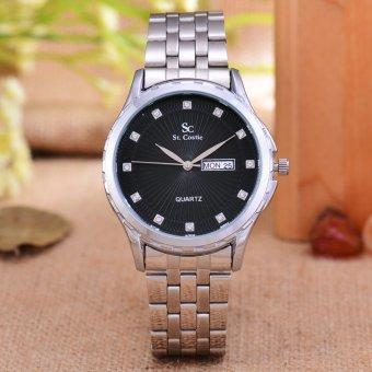 Original Brand, Jam Tangan Pria dan Wanita - Body Silver - Black .