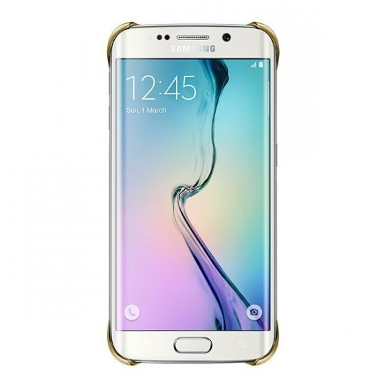 Samsung Clear Cover Galaxy S6 Edge - Gold