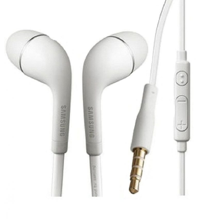 Samsung Earphone / Headset / Handsfree Stereo S4 / I9220 With Control Talk - Putih