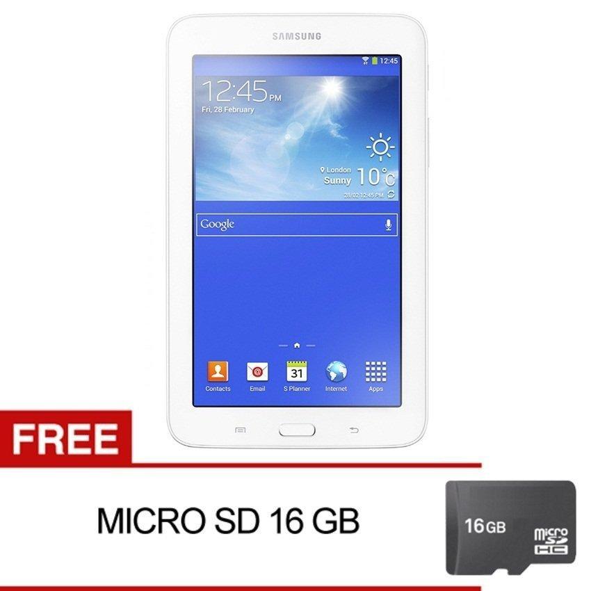 Samsung Galaxy Tab 3V T116 - 8GB - Putih + Gratis Micro SD 16GB