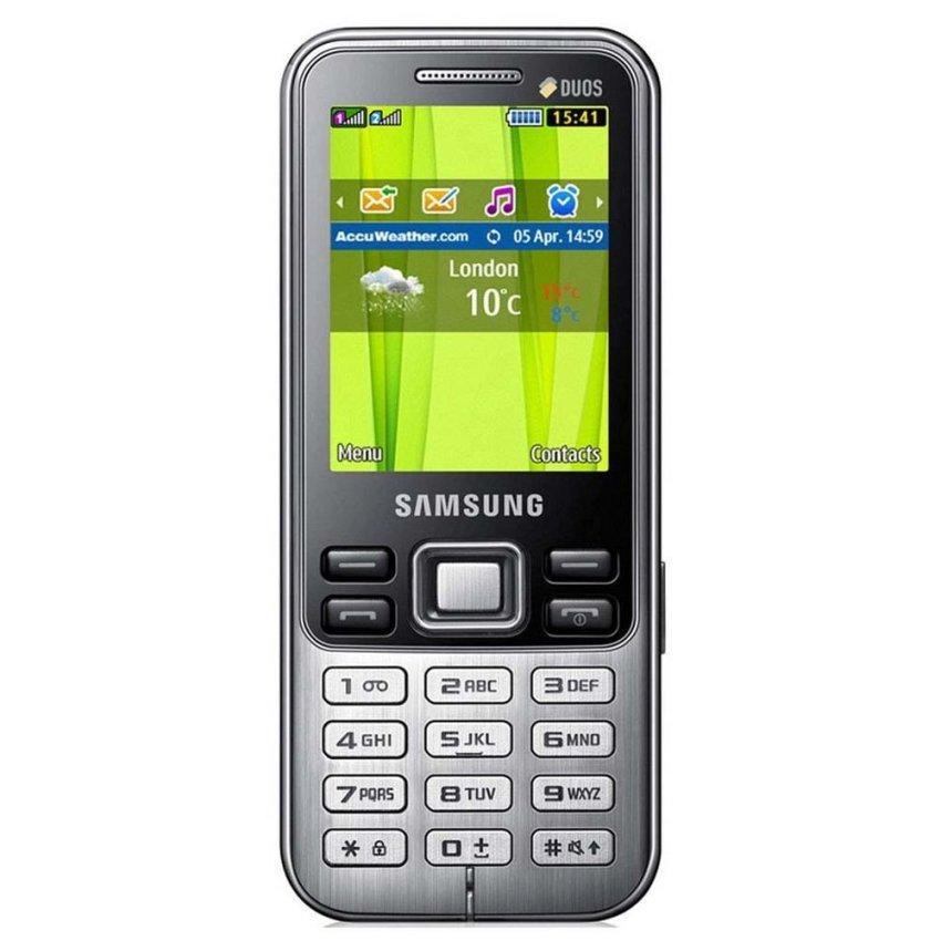Samsung Lakota C3322 DUOS - Dual GSM - Silver/Hitam