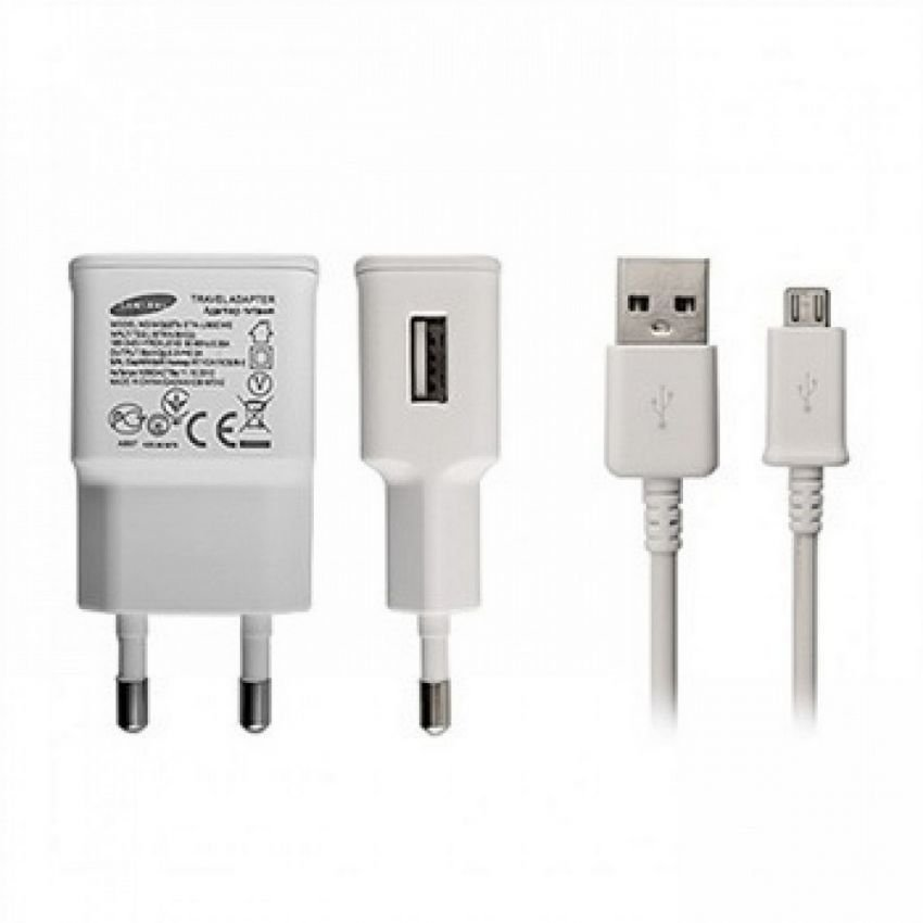 Samsung Travel Charger For Samsung S5 / Note4 / Tab3 + Cable USB Micro