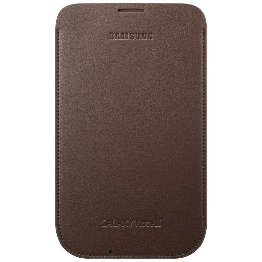 "Samsung Universal Leather Pouch 5.5"" - Dark Brown"