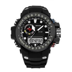 SANDA 399 Fashion Outdoor Sports Dual Display Waterproof Electronic Watch (Black)