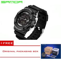 SANDA LED Digital Watch Men Watches 2016 Top Brand Luxury Famous Male Clock Military Watch Sport Digital-watch Relogio Masculino320 (Black) [Buy 1 Get 1 Freebie]