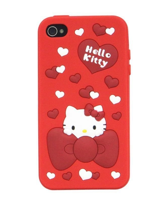 Sanrio Hello Kitty Silicon Case For Iphone 4 SAN-101KTA
