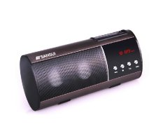 Sansui D1.2.0 Channel Speaker (Plug-in Card) Radio & MP3 Player - Brown