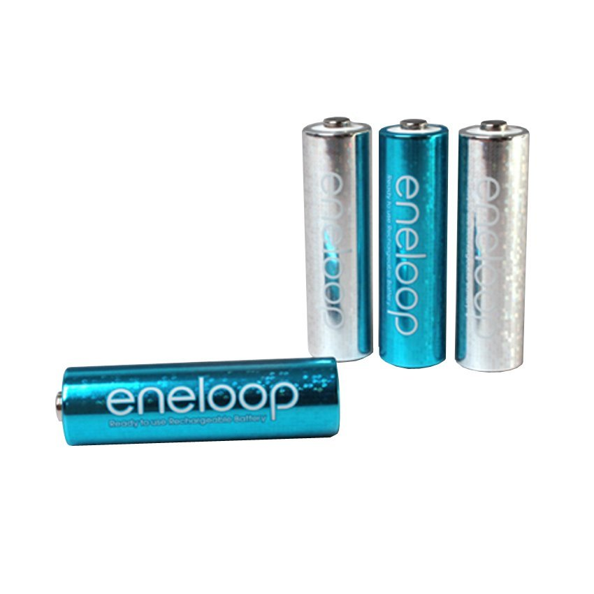 Sanyo Eneloop Battery Chargeable Glitter AA 2000mAh 4pcs - Silver / Blue