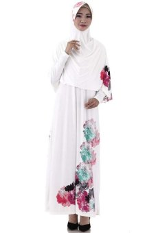 Saqina Shakeela Dress G803 Putih Lazada Indonesia