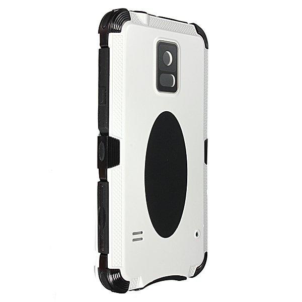 Shockproof Aluminum Metal Gorilla Glass Case for Samsung Galaxy S5 White