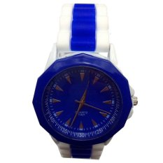 Silicone Women Watches Casual Analog Rubber Band Sports Wristwatches Blue