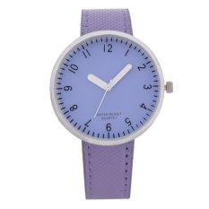 Simple Digital Watches Purple Glass Plate (Intl)