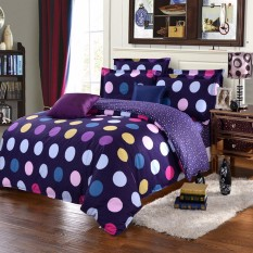 Single Size Polyester Circle Duvet Quilt Cover Pillow Case Bedding Set - Intl