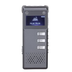 SK-818 Portable Mini Multi-functional Rechargeable 8GB Digital Audio Voice Recorder Pen Dictaphone MP3 Player For Meetings Lectures Conversations Presentations Students Learning (Grey) - Intl