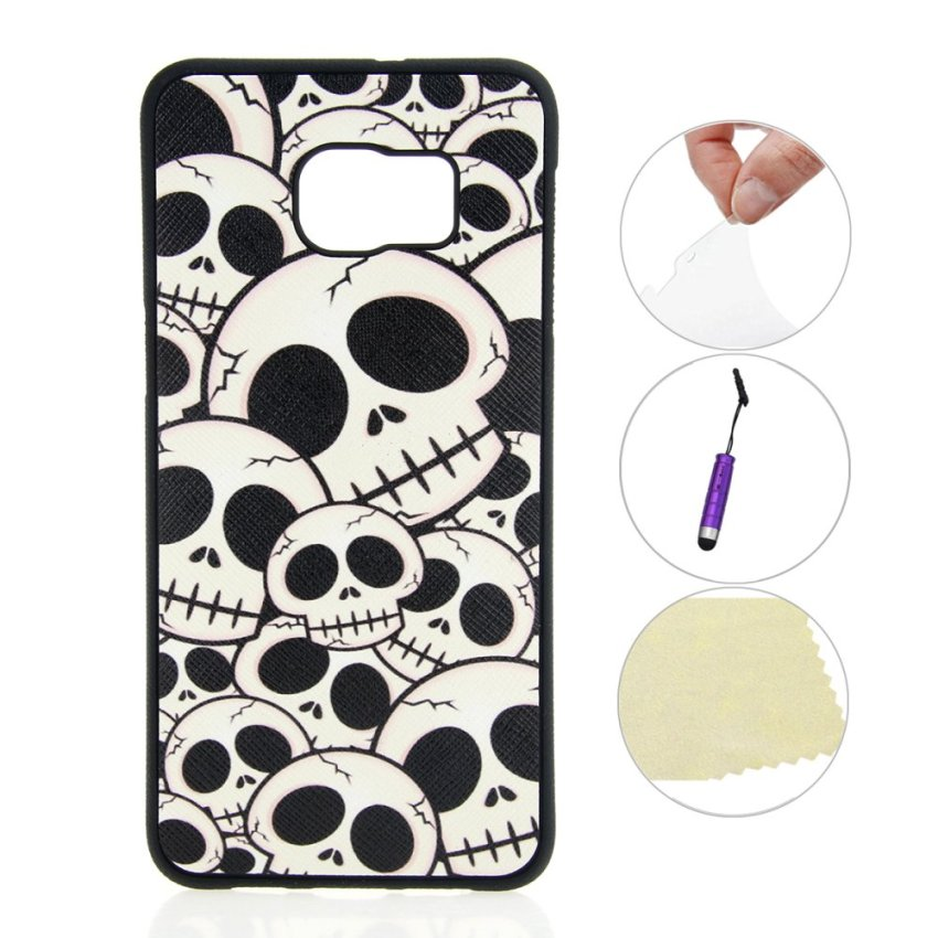 Skeleton Ultra-thin Soft Silicone Phone Back Case Cover Protective Shell Samsung Galaxy Note 5 Edge Case (Intl)