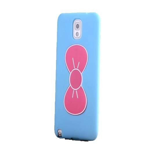 Skin Cover With Bowknot Kickstand Compatible for Samsung Note 3