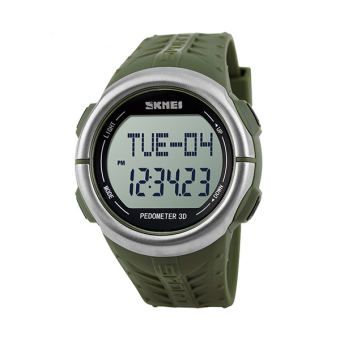 Skmei 1058 Waterproof 50m With LED Backlight Sport Watch Wristwatch Army Green