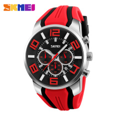 SKMEI 2016 New Quartz Analog Sport Watch Fashion Casual Stop Watch Date Waterproof Watches (Red)