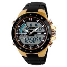 SKMEI Brand Watch Men Quartz Digital Watch 1016 Fashion Outdoor Sports Analog Casual Alarm Chrono Waterproof Calendar Stop Watch